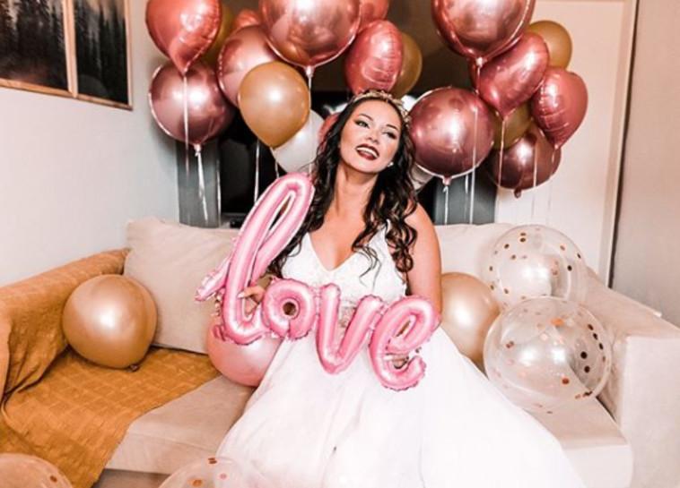 אוגוסטינה מונטיפיורי, הכלה התחתנה בזום (צילום: רשתות חברתיות)