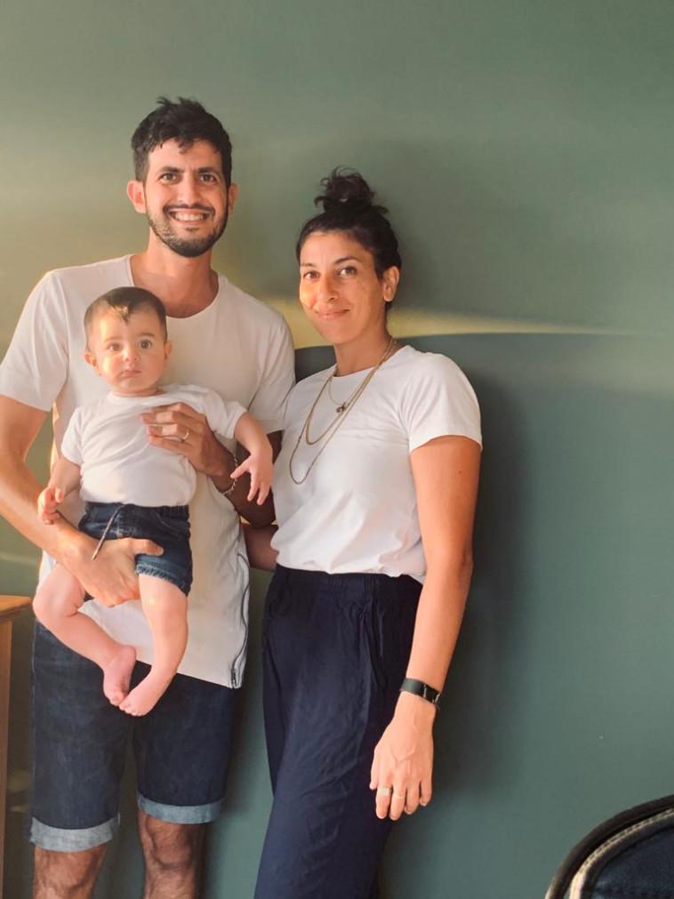 רינה שובע־עבאדי ומשפחתה (צילום: פרטי)