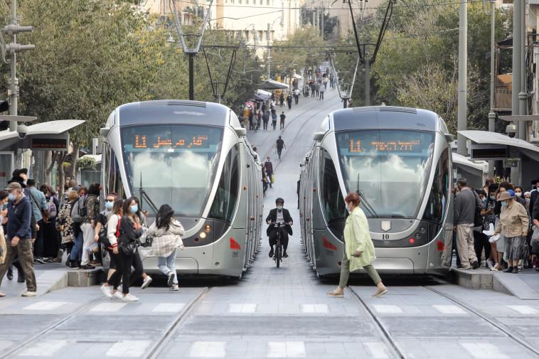 הרכבת הקלה בירושלים (צילום: מארק ישראל סלם)