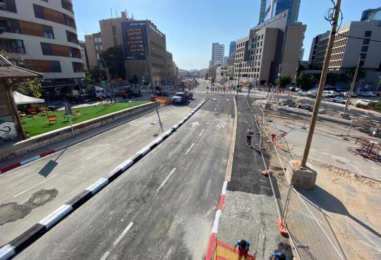 רחוב יהודה הלוי בתל אביב נפתח (צילום: אבשלום ששוני)