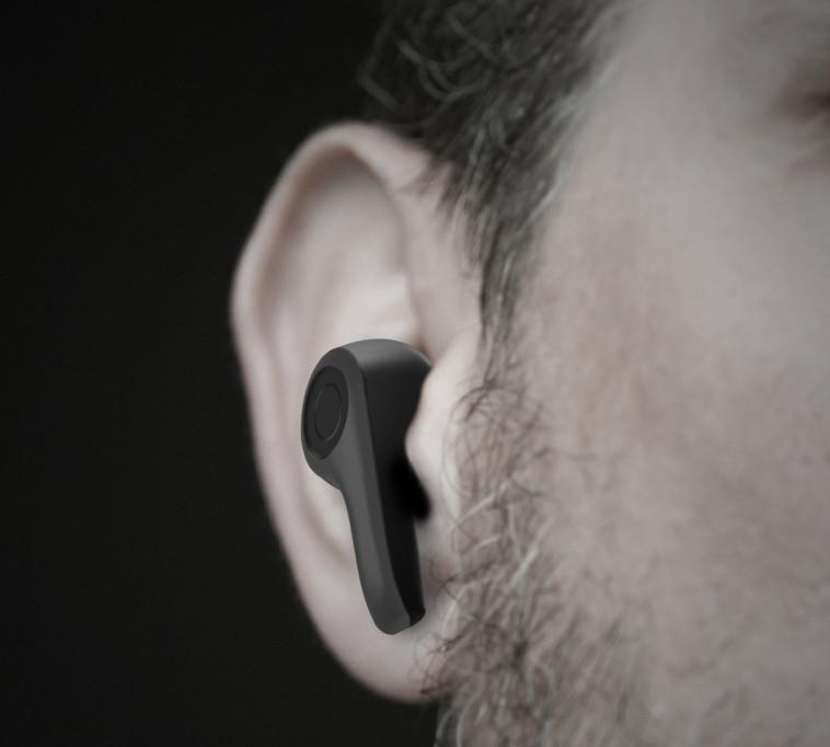 אוזניות הבלוטות' של BROOKSTONE (צילום: יח''צ חו''ל)