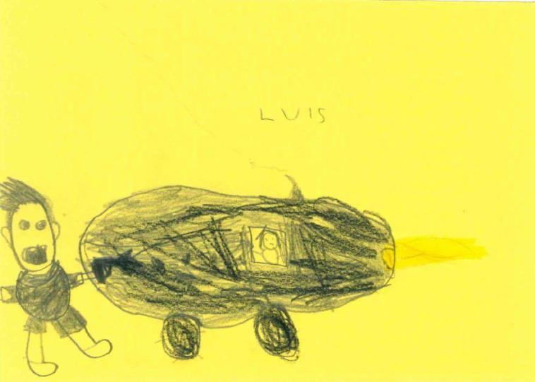 הציור של התלמיד לואיס (צילום: Polizei NRW Hamm)