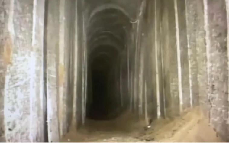 המנהרה הענקית שנחפרה על ידי חמאס (צילום: דובר צה''ל)