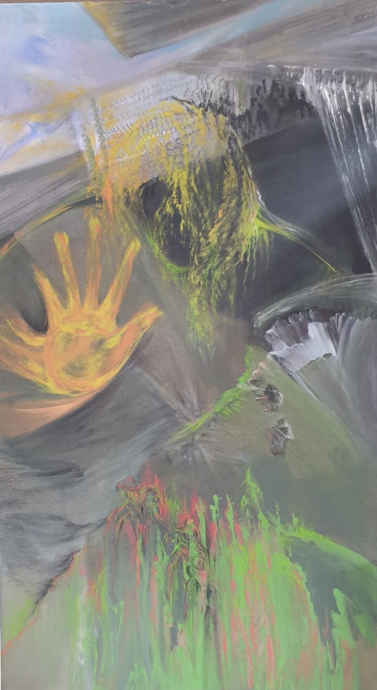 ציור של ורד ברודנר (צילום: שגיא חיון)