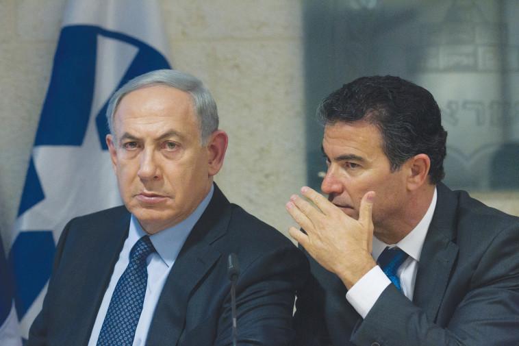יוסי כהן ובנימין נתניהו (צילום: מרים אלסטר, פלאש 90)