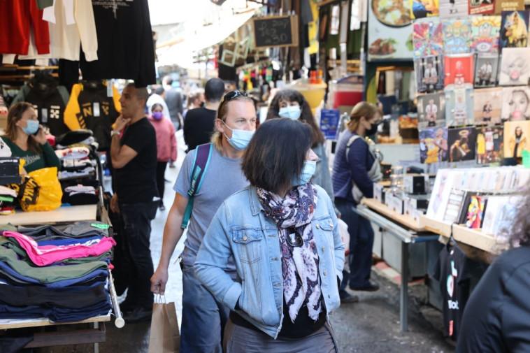 פתיחת שוק הכרמל (צילום: אבשלום ששוני)