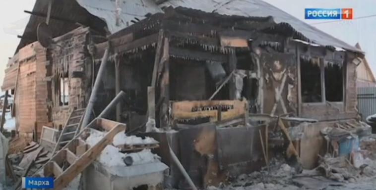 הבית לאחר השריפה הקטלנית (צילום: צילום מסך יוטיוב)