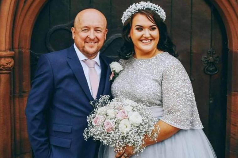 טוני סטנדן ובעלה הטרי ביום החתונה  (צילום: רשתות חברתיות)