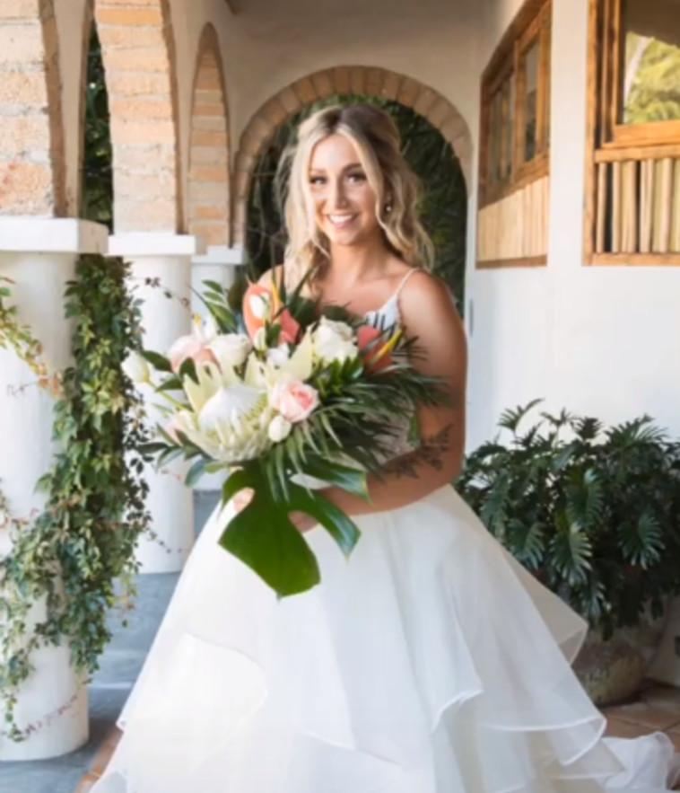 ג'יליאן בחתונה במקסיקו (צילום: צילום מסך טיקטוק)