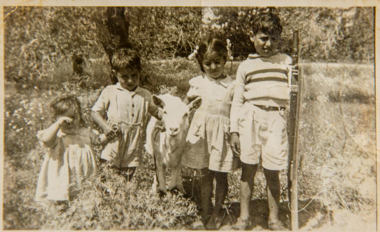 ילדיו של דוד קדוש מימין שמעון,אניטה, מוריס, מרסל-מיכל (צילום: יוסי אלוני, רפרודוקציה)