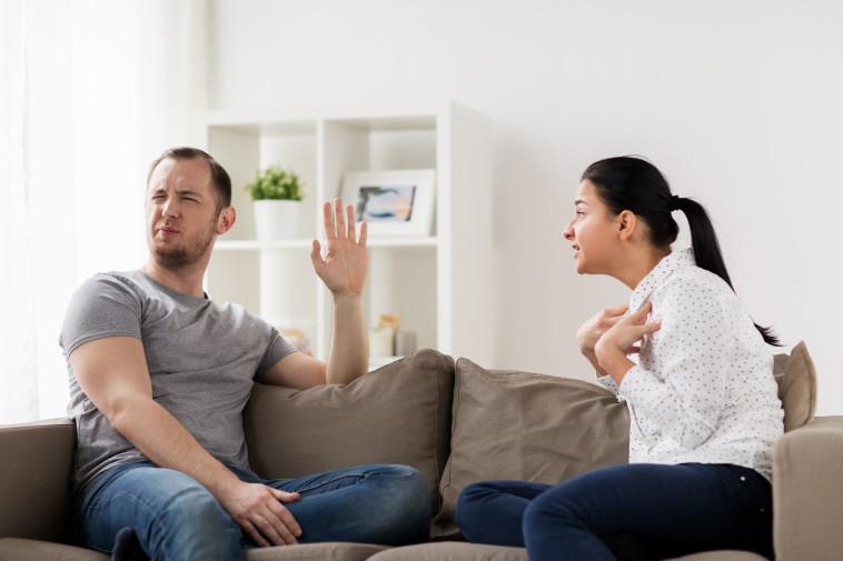 זוג מתווכח, אילוסטרציה (צילום: ingimage ASAP)