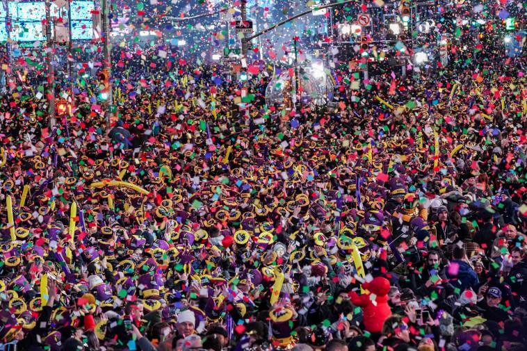 חגיגות השנה החדשה במנהטן (צילום: רויטרס)