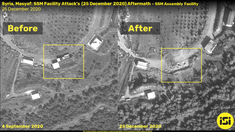 אתר התקיפה בסוריה (צילום: (ImageSat International (ISI)