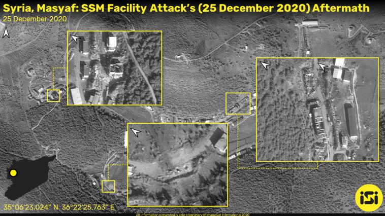 אתר התקיפה בסוריה (צילום: ImageSat International (ISI))