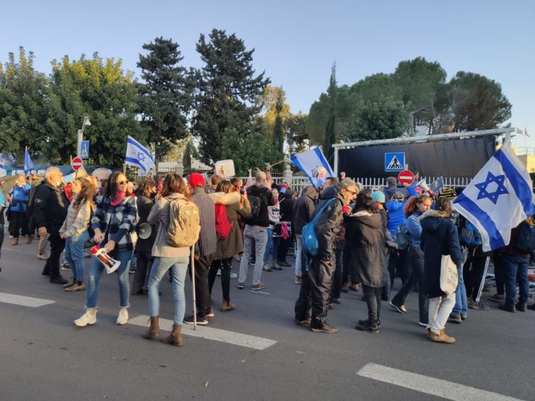 המחאה נגד נתניהו (צילום: בן כהן)