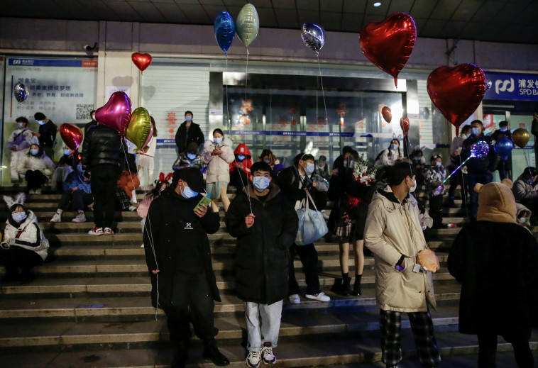 חגיגות השנה החדשה בווהאן, סין (צילום: REUTERS/Tingshu Wang)