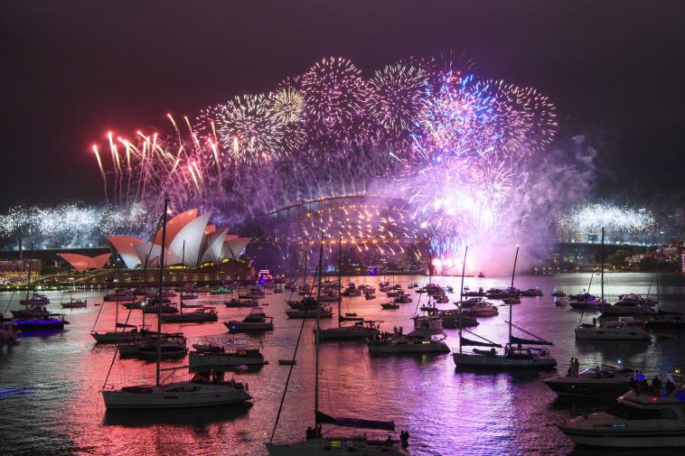 חגיגות השנה החדשה באוסטרליה (צילום: Wendell Teodoro/Getty Images)