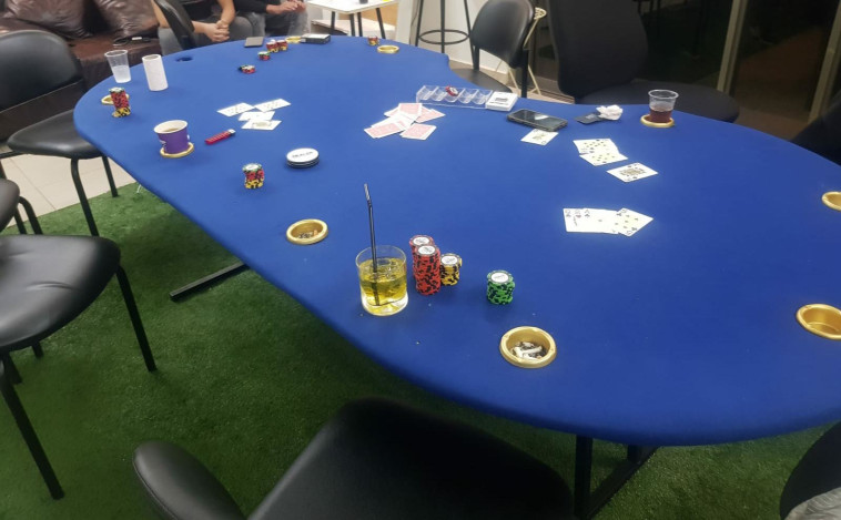 מפגש הימורים שפוזר באשדוד (צילום: דוברות המשטרה)