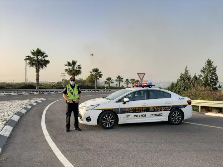 פעילות אגף התנועה (צילום: דוברות המשטרה)