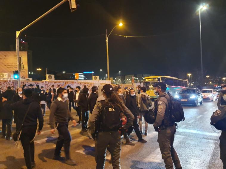 מחאות בירושלים על מותו של אהוביה סנדק (צילום: ידידיה אפשטיין)