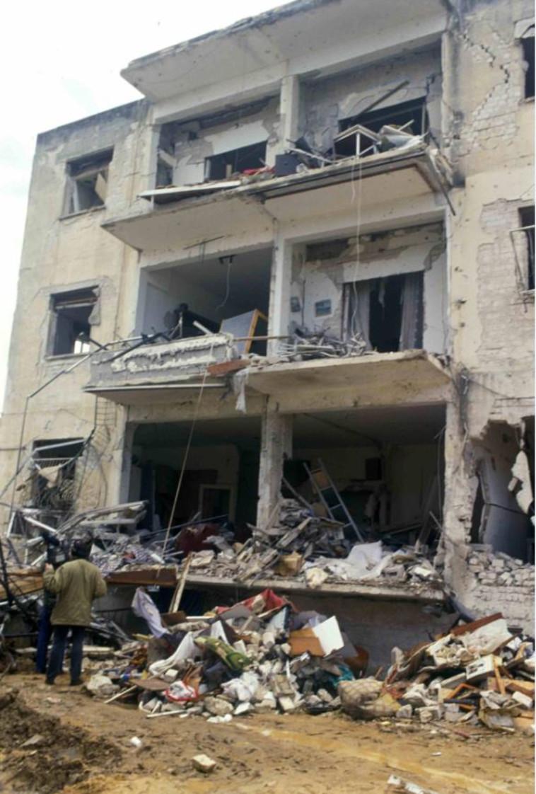 תל חורבות: בתים שנהרסו עד היסוד כתוצאה מנפילת סקאדים (צילום: באדיבות ארכיון צה''ל במשרד הביטחון,אבי שמחוני,מיכאל צרפתי)