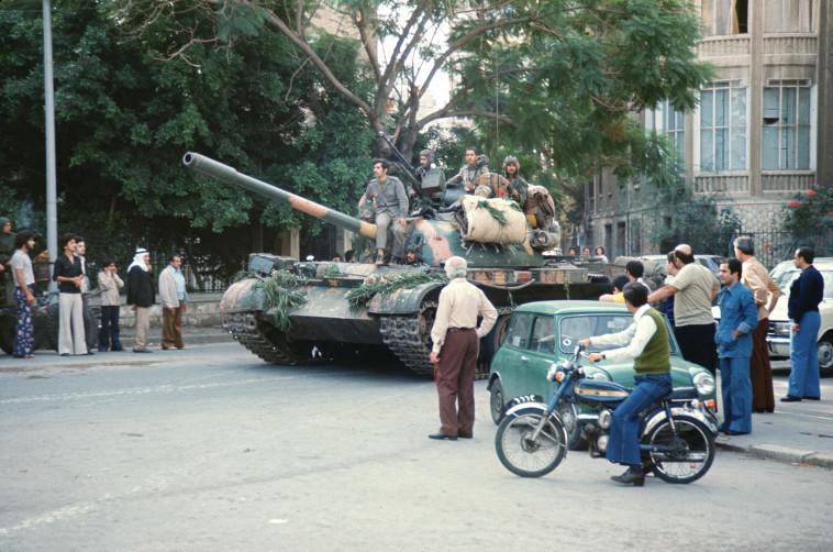 פלישת הצבא הסורי ללבנון, 1976 (צילום: AFP/Getty images)