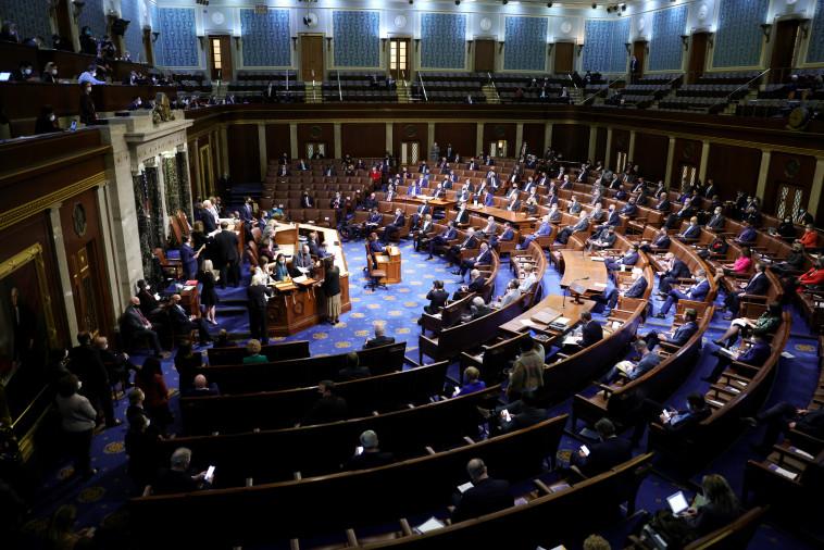 אולם הקונגרס האמריקאי (צילום: Win McNamee/Getty Images)