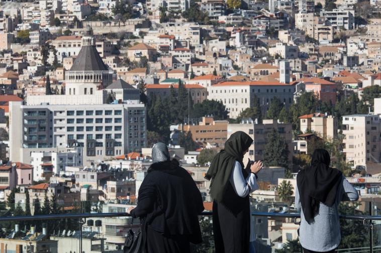נשים ערביות בנצרת (צילום: נתי שוחט, פלאש 90)