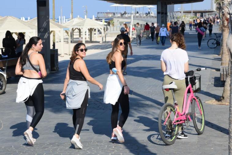 תל אביב בזמן הסגר (צילום: אבשלום ששוני)