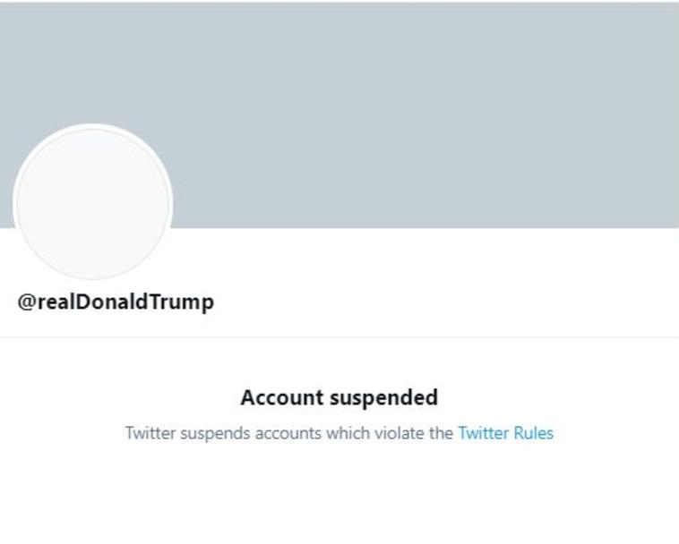 חשבון הטוויטר החסום של דונלד טראמפ (צילום: צילום מסך)
