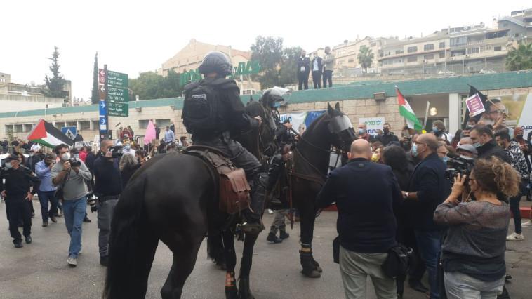 הפגנה בנצרת נגד נתניהו (צילום: ללא)