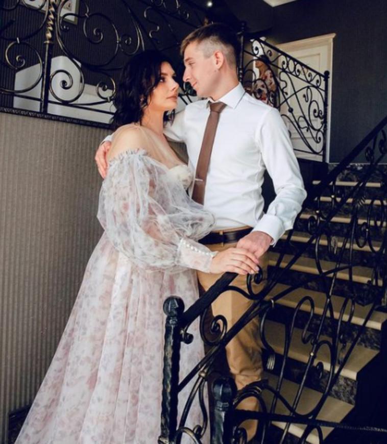 מתוך טקס החתונה של וובה ומרינה (צילום: רשתות חברתיות)