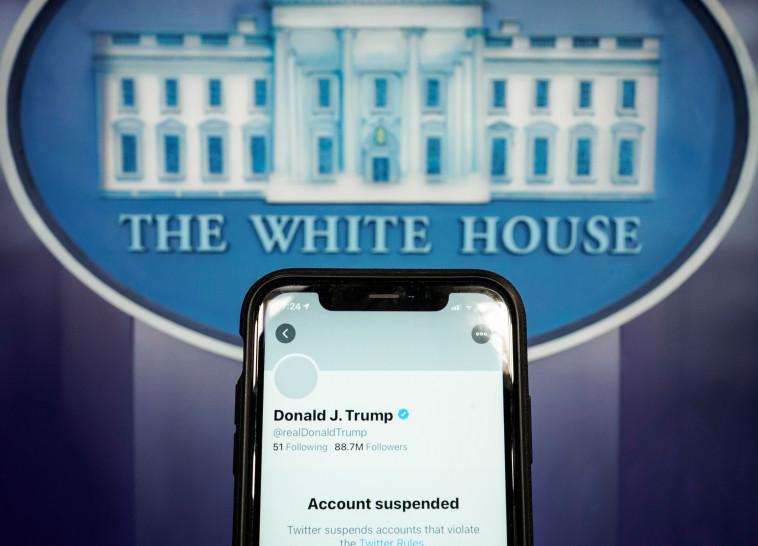 חשבון הטוויטר המושעה של טראמפ (צילום: רויטרס)