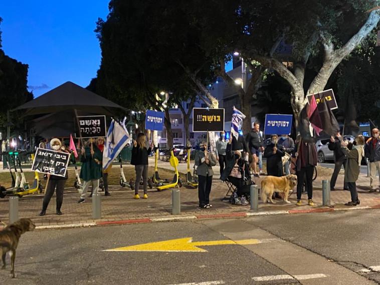 הפגנה נגד נתניהו בשדרות רוטשילד בתל אביב (צילום: אבשלום ששוני)