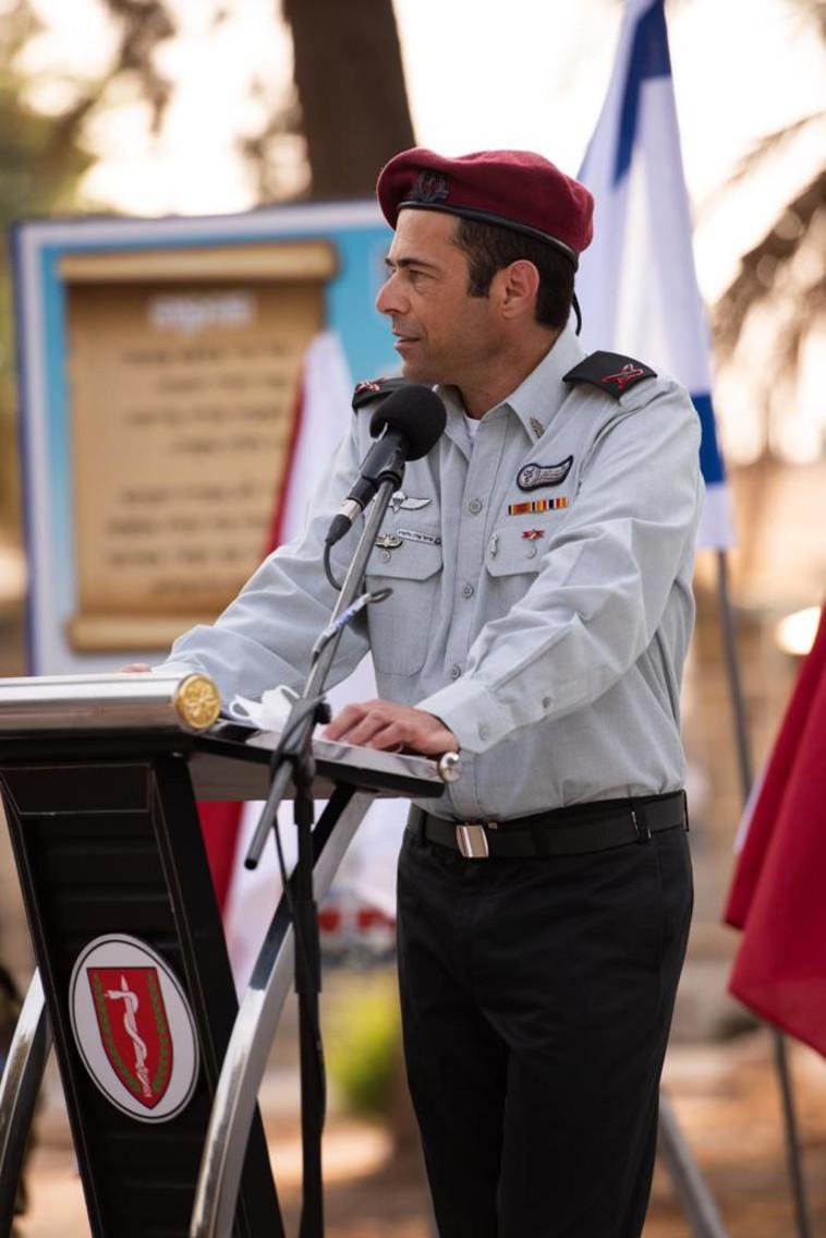 קצין הרפואה הראשי אלון גלזברג (צילום: דובר צה''ל)