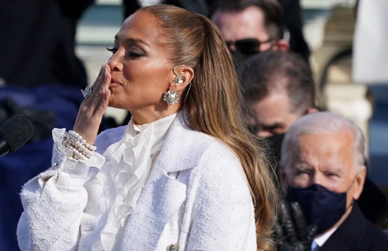 ג'ניפר לופז בטקס ההשבעה (צילום: REUTERS/Kevin Lamarque)
