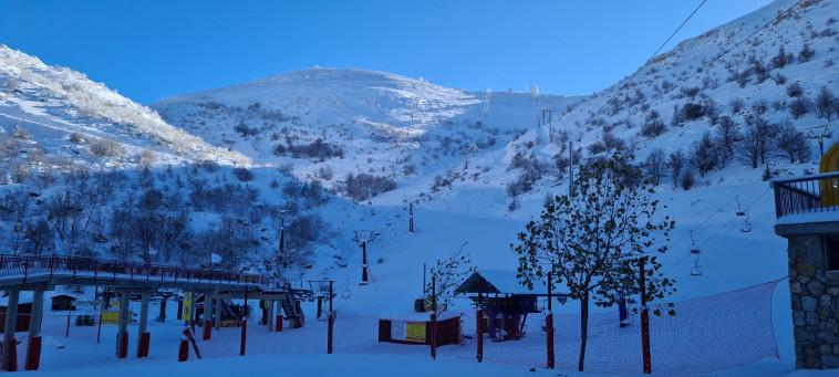 שלג באתר החרמון (צילום: אתר החרמון)