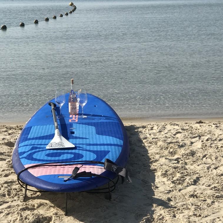 רוזה על החוף  (צילום: טליה לוין)