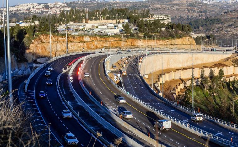 נתיבי הנסיעה החדשים ביציאה מירושלים לכביש 1 (צילום: חברת מוריה)