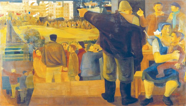 ''מרד הימאים''. ציור: נפתלי בזם (צילום: מוזיאון ישראל, ירושלים, אברהם חי)