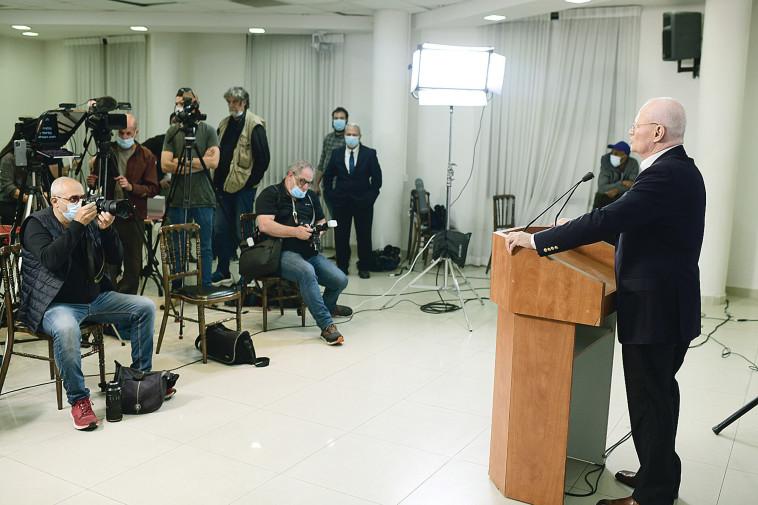 דני יתום בהשקת מפלגת ותיקי ישראל (צילום: תומר נויברג, פלאש 90)