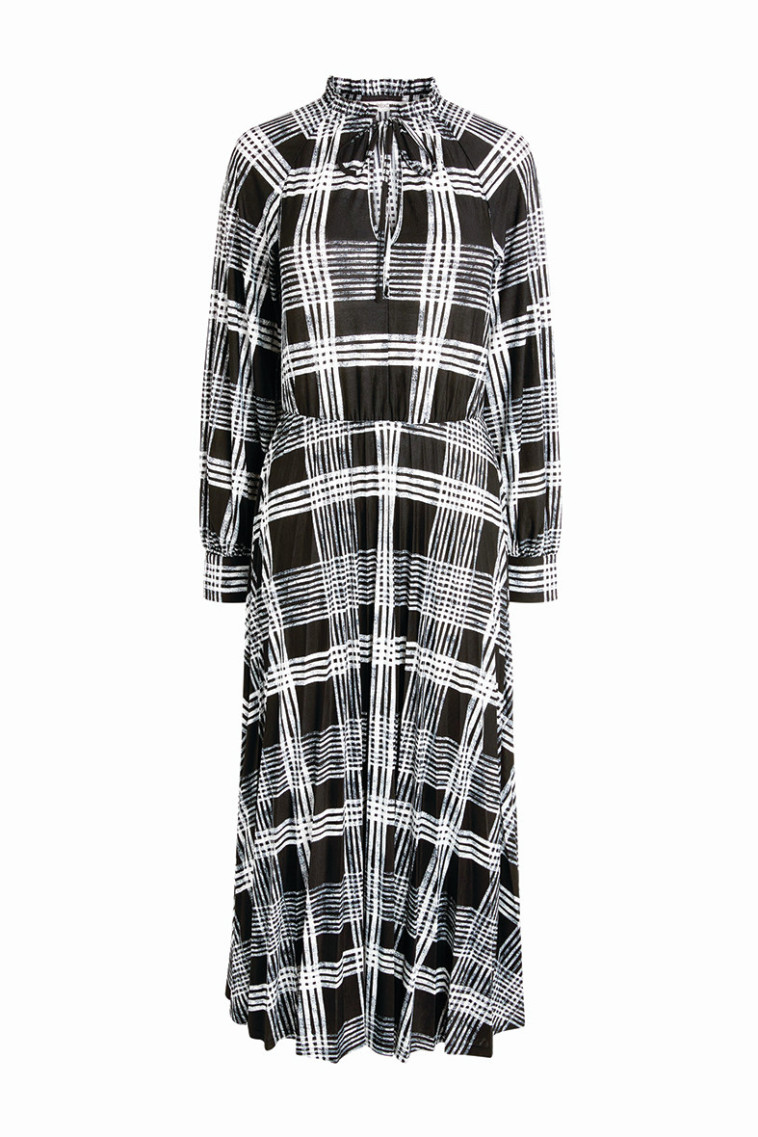 שמלה משובצת מאתר NEXT 151 שקלים (צילום: יחצ חול)