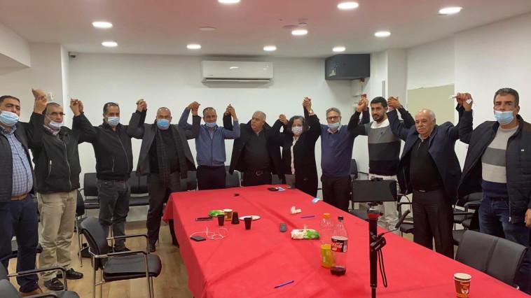 המפלגות חד''ש, תע''ל ובל''ד הכריזו רשמית על ריצה משותפת (צילום: הרשימה המשותפת)