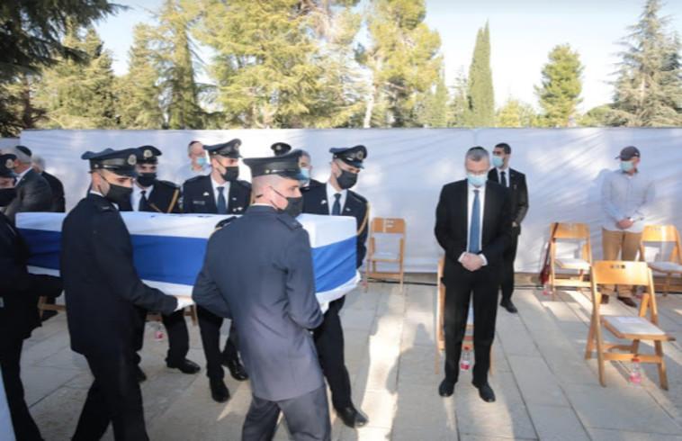 הלוויתו של שלמה הלל ז''ל (צילום: דוברות הכנסת,יוסי זמיר)