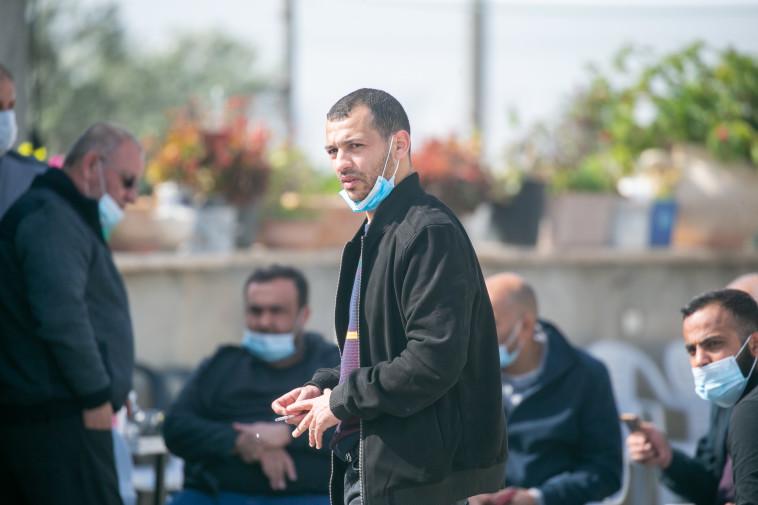אחמד חיג'אזי, קרוב משפחה של ההרוג באותו השם (צילום: יוסי אלוני)