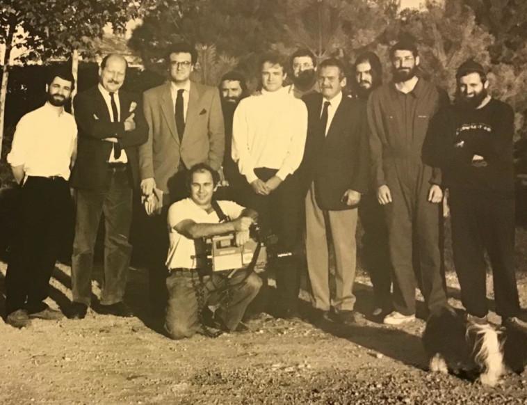 פייר מיודובניק וצוות ''ברון רוטשילד הוט מדוק''. בורדו 86 (צילום: באדיבות המצולם)