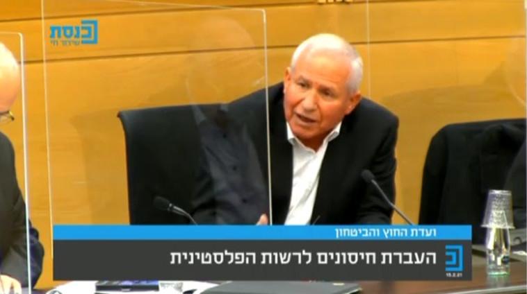 ח''כ אבי דיכטר, ועדת החוץ והביטחון (צילום: צילום מסך מערוץ הכנסת)