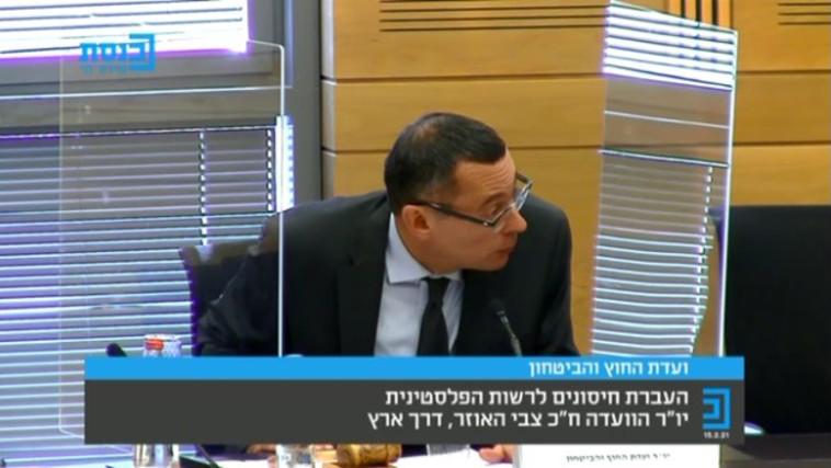 יו''ר ועדת חוץ וביטחון, צביקה האוזר (צילום: צילום מסך מערוץ הכנסת)