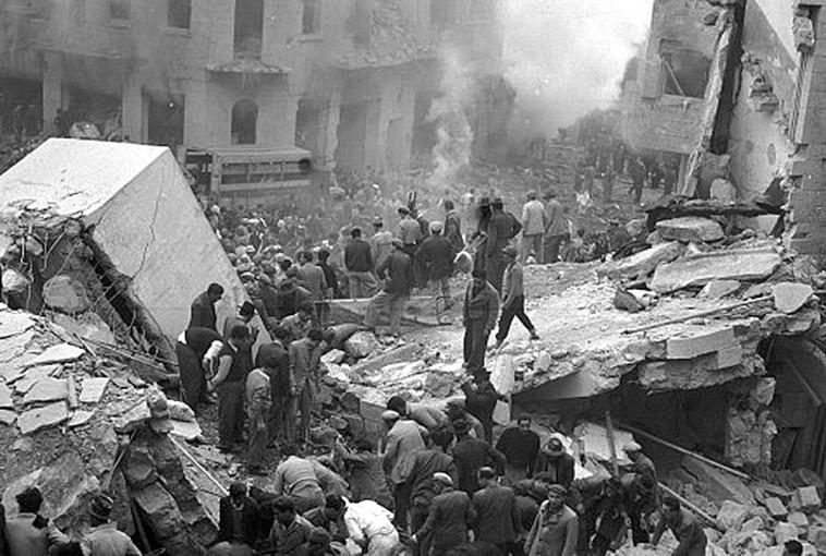 פיגוע בבן יהודה, ירושלים, 1948 (צילום: אדגר הירשביין, ארכיון הצילומים)