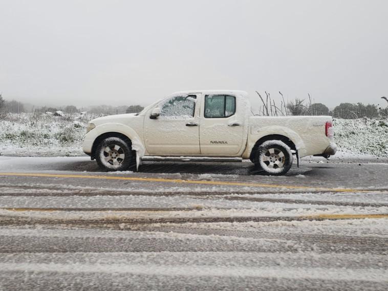 שלג בגולן (צילום: שלומי גבאי)